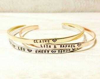 Name Bracelet Cuff, Child name bracelet, Custom bracelet, Mom Bracelet