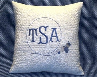 FREE SHIPPING!, Monogrammed Airplane pillow, Monogrammed Pillow, Throw pillow, Monogrammed throw pillow, baby monogrammed pillow, baby gift