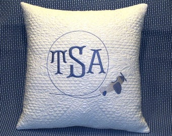Monogrammed Airplane pillow, Monogrammed Pillow, Throw pillow, Monogrammed throw pillow, baby monogrammed pillow, baby gift