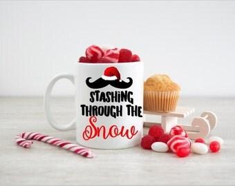 Coffee Mug - Ceramic Coffee Mug - Stashing Through The Snow - Tea Lover - Gift Idea - Tea Cup - Tea Time - Funny Mug - 11oz Mug