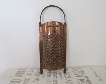 Antique Copper Vegetable Cheese Hand Grater