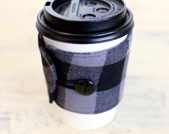 Coffee Cup Sleeve Cozy - Flannel