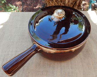 Pfaltzgraff Brown Drip Pottery 1 1/2 Quart Covered Dish  ~  Made in the USA  ~  Pfaltzgraff Covered Dish  ~  Brown Drip Covered Handled Dish