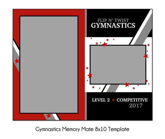 gymnastics mm3 8x10 memory mate sports photo template. Black Bedroom Furniture Sets. Home Design Ideas