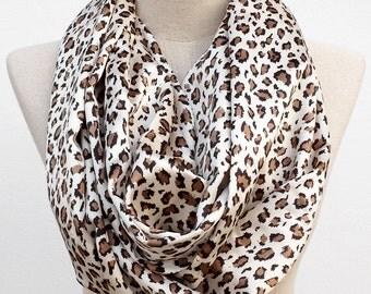 Cheetah Print Scarf, Animal Print Scarf, Infinity Circle Scarf, Leopard Print Scarf