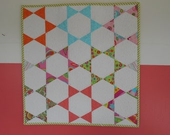 Mini Hexagon Quilted Wall Hanging