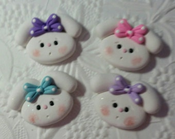Cute little Easter bunny bow center, pin, magnet, gift ( Price for one bunny only)