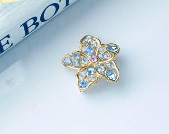 Nolan Miller Austrian Crystals small  Flower Pin/Brooch #756