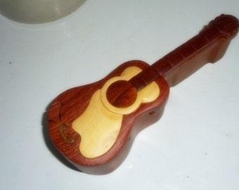Guitar , Puzzle Box Guitar , Wooden Puzzle Box , Handmade Box