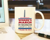 Women's March on Washington 2017 v1, Coffee Mug, Cup, Gift, Present, Woman, Female, Trump, Resist, Souvenir, Protest, Protester, Participant