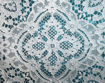 """EXTRAORDINARY Antique French Alencon Net Lace Shawl...Lace Collector..15"""" Wide by 60"""" PERFECT..Wedding..Table Runner"""