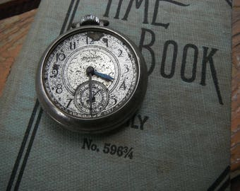 Vintage Ingersoll Pocket Watch - Steampunk Parts- Project