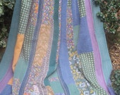 King size Green & Blues kantha Kantha ,Sari throw, Sari Blanket, Kantha Blanket,  Kantha Throw, Indian Quilt, Coverlet, Ralli Quilt,Kantha
