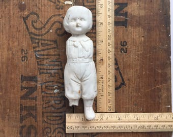 LARGE frozen charlotte doll, antique doll parts, antique doll, assemblage supply, dug up