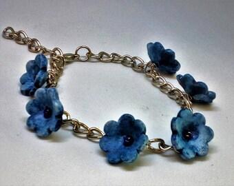 Porcelain bracelet Flowers of porcelain