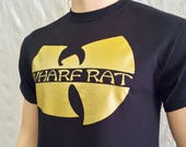 "New LE Gold Shimmer Wharf Rat - Wu parody T shirts , ''Ill get up and fly away"" + sober life"