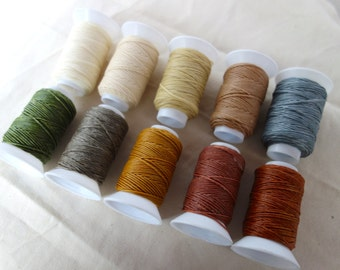10x32.8yards small spools/Waxed cotton cord/1.00mm/total150meters