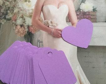 Set of  50  lavender Tags ,lilac  Favor Tags, Treat Bag Tags, Product Tags, Hang Tags, Wish Tree Tags,birthday tags,wedding tag,thanks tags
