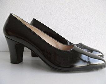 CARTIER PARiS . Rare Leather Shoes Pumps 60 France Black US 5 Eu 35 (Pls, Check The Measurements)