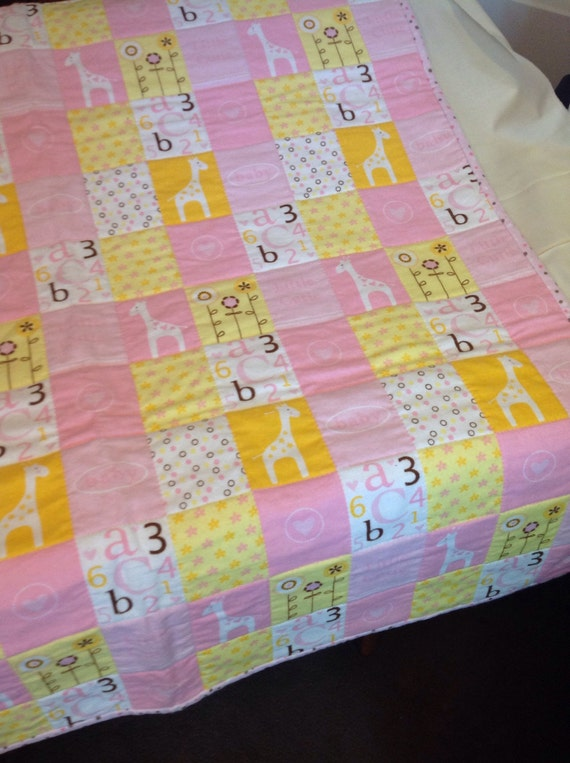 Baby Quilt Pink Printed Flannel Fabric