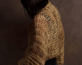 Chunky Knit Kimono Sleeve Oversized Sweater