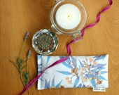 Eye Pillow, Lavender and Flax Seed Eye Pillow - Eucalyptus Gumnuts Scented Gift Relaxation Yoga Meditation