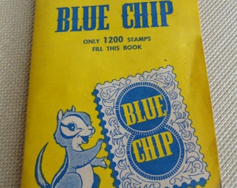 C288)  Vintage Trading Stamp Book Blue Chip