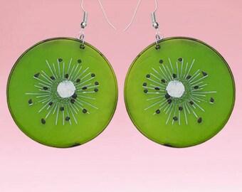 HANDMADE Kiwi Fruit Slice Earrings