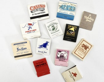 Vintage Matchbooks- Lot of 12- Instant Collection