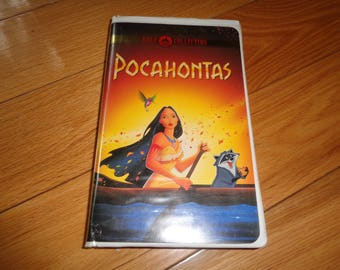 Vintage Walt Disney Gold Collection Video VHS tape of POCAHONTOS in the original plastic container in Good condition