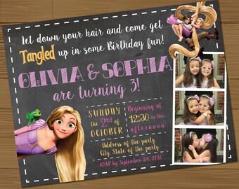 Custom Made Tangled Birthday Party Invitations