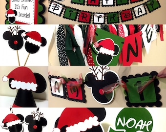 Christmas Mickey Mouse Inspired Birthday Party Packages