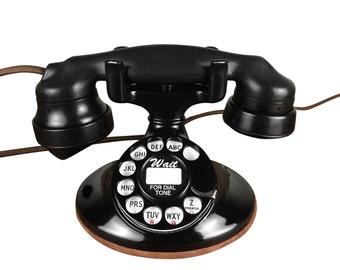 Vintage 1930s Western Electric Desktop Telephone, Rotary Dial, Beautiful, Working
