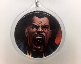 Upcycled Comic Book Keychain Featuring - Blade