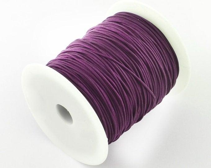 1mm purple mauve violet nylon cord - nylon thread - chineese Knotting Cord - Macrame thread (1445) - Flat rate shipping