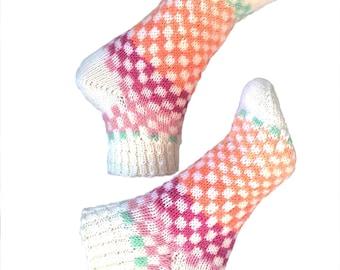 Short Socks, Hand Knit Unique Ankle Socks, Boho Socks, Men Women Socks, Teen Sox, Spring Socks, Hipster Socks, Short Sox, Slipper Socks Gift