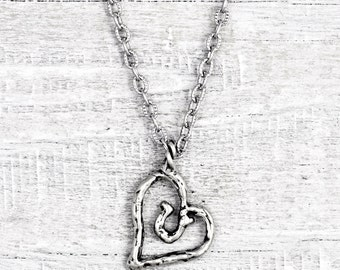Hearts And Horseshoes Necklace- Cowgirl Jewelry - Horseshoe Necklace - Equestrian Inspirational Necklace - N725
