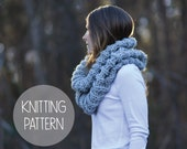 knitting pattern fishermans rib cowl scarf - the rapids cowl