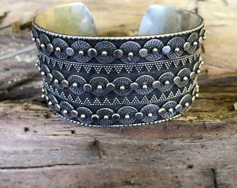 Sterling silver Tribal cuff