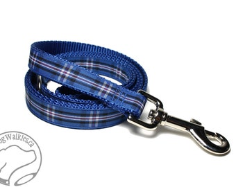 "Matching Tartan Dog Leash for 3/4"" - 19mm Wide Dog Collars // Plaid // Tartan // Plaid Leashes // Tartan Lead"