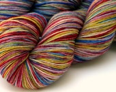 "Kettle Dyed Sock Yarn, Superwash Merino and Nylon 75/25 Fingering Weight, in ""Watercolors"""