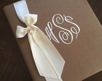 Monogrammed Wedding Book