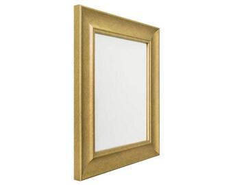 """Craig Frames, 12x16 Inch Brushed Gold Picture Frame, Vintage Revival 1.75"""" Wide (226058421216)"""