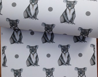 Koala bear, wrapping paper, gift wrap, for koala bear lovers, read description