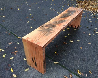 River Salvaged Fir Dovetail Bench