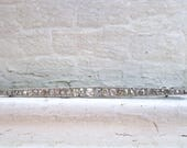 RESERVED - Long French Antique Platinum/ 18K White Gold Diamond Bar Pin/ Brooch.