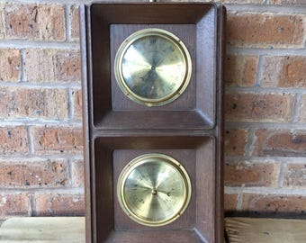 Vintage Springfield Weather Station, Thermometer, Barometer and Hygrometer