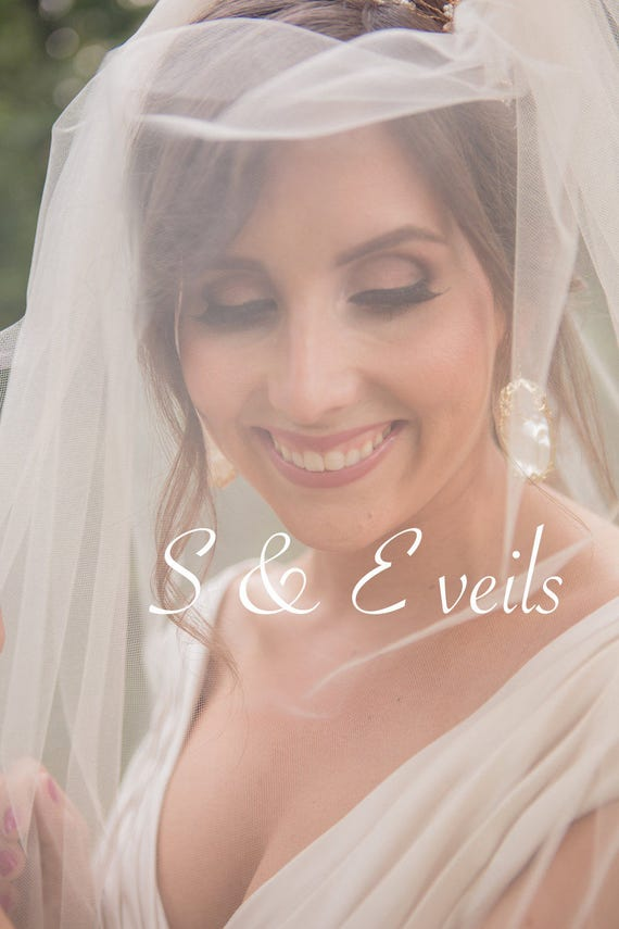 MEGAN CATHEDRAL Veil, bridal veil, cathedral wedding veil, champagne, ivory, diamond white, blush color, accessories, simple floating veil