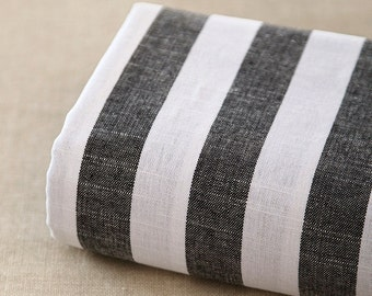 Plain Yarn-dyed,Cotton Linen Fabric for craft, Blue Stripe linen fabric, diy fabric,garment 1/2 yard (QT1140)