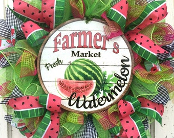 Summer Watermelon Wreath on Deco Mesh